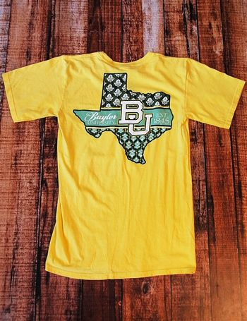 #Baylor Texas sunburst patterns t-shirt