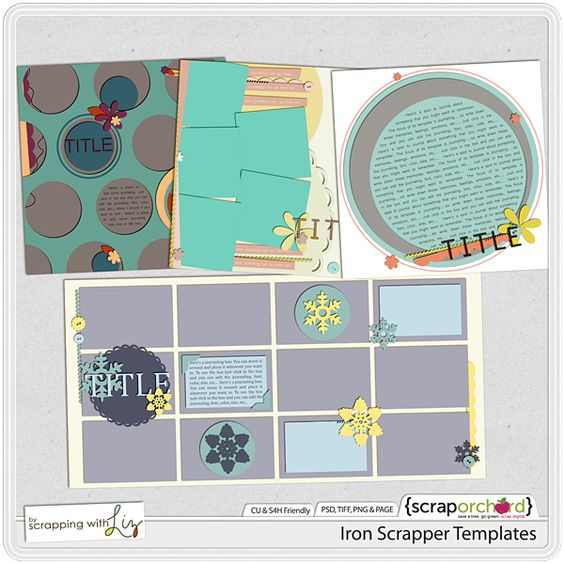 Iron Scrapper Templates by Scrapping with Liz