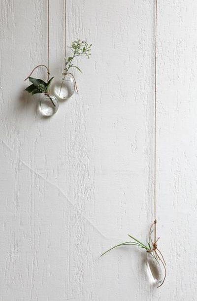 Hanging vases by Jurgen Lehl