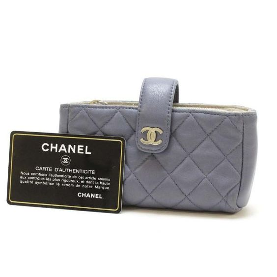 CHANEL Small Pochette Matelasse Other Leather A48227
