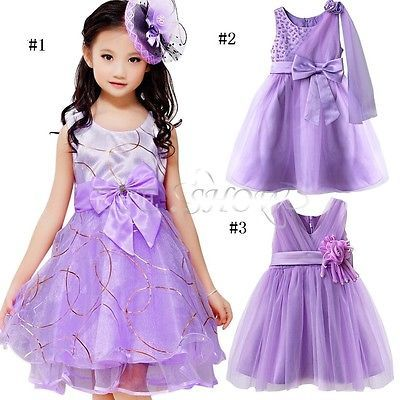 violet enfant fille princesse robe tenue de soir e mariage ceremonie bapteme in v tements