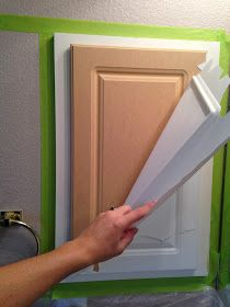 Painting Laminated Cabinets, how-to repair and paint them ~ this is a diy with the laminate pulled off.