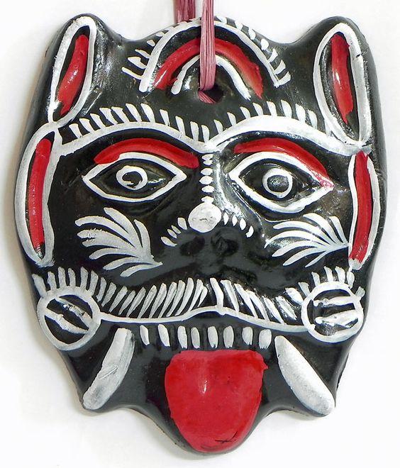 Demon Mask - Remover of Bad Omen (Terracotta))