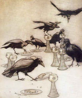 Arthur Rackham - Who Has been eating off my plate ?