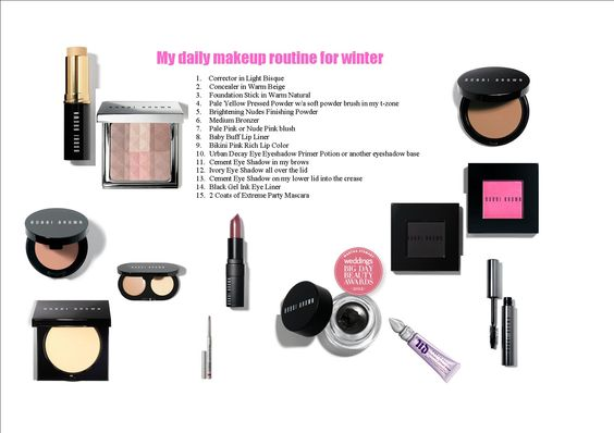These are the products that I use for my daily makeup look during the winter months.