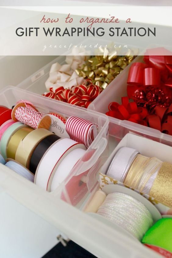 Easy Tips for Organizing a Gift Wrapping Station! – Graceful Order