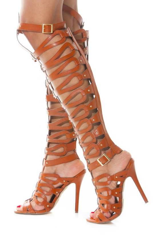 Thigh High Gladiator Heels @ Cicihot Heel Shoes online store sales