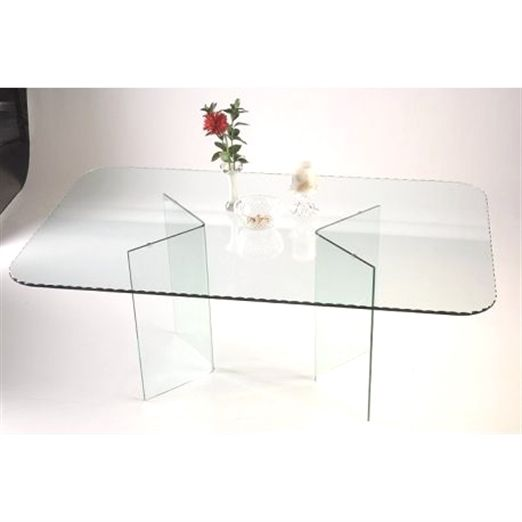 Angled All Glass Dining Table Base Set Diningtableset Glass Dining Table Dining Table Bases Dining Room Sets