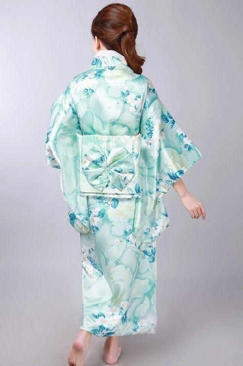 Women/'s Vintage Japanese Kimono Yukata Haori Costume Geisha Dress Obi Retro Chic