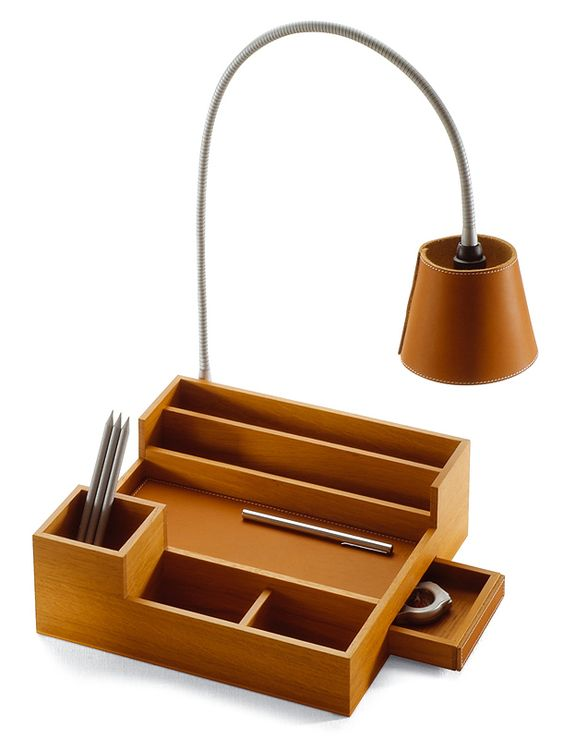 Table Organizer with Lamp by Pinetti
