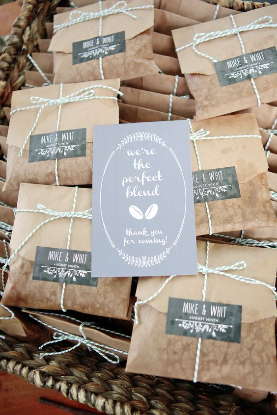Coffee wedding favors #weddingfavors