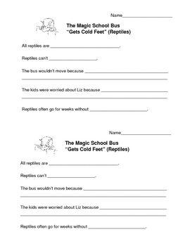 Magic School Bus For Lunch Worksheet Worksheets For School ...