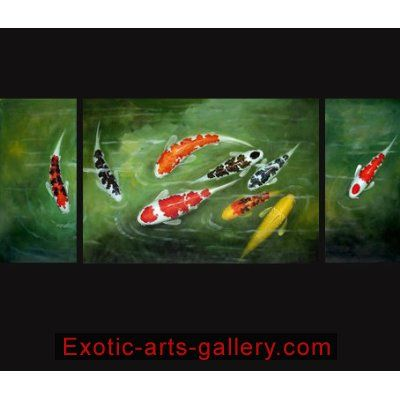 Feng shui fish painting koi painting chinese for Wholesale koi fish