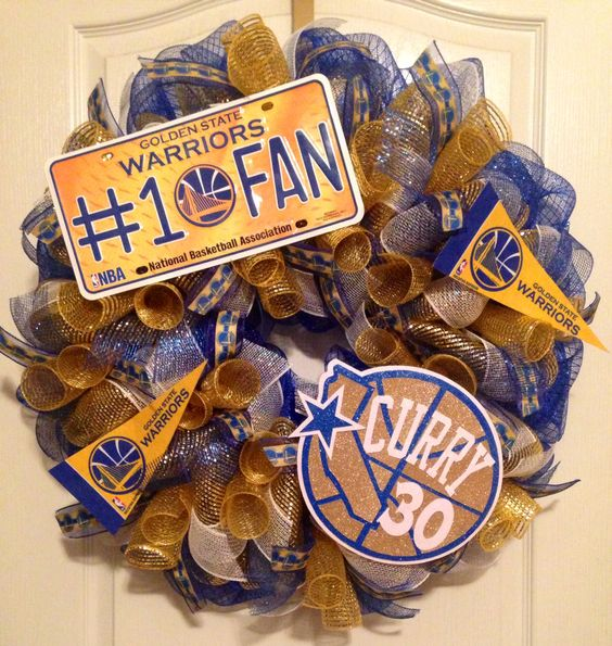 Golden State Warriors Stephen Curry Mesh Wreath