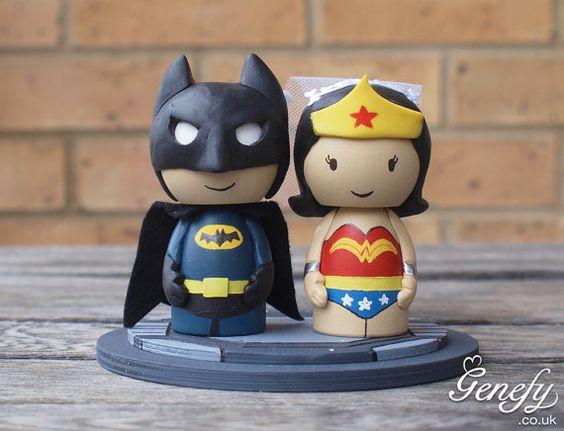 Cute Marvel Heroes Wedding Cake Topper  Batman by GenefyPlayground, £88.00