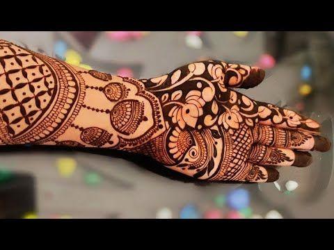 front hand bridal mehndi designs