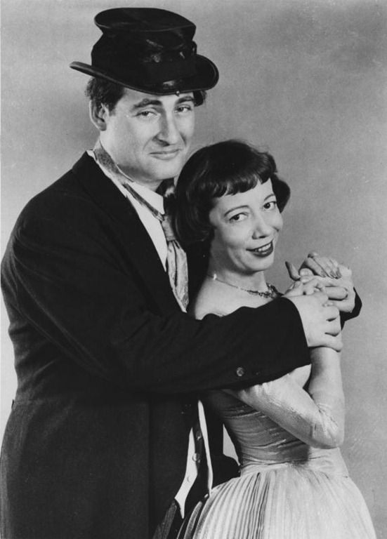 Sid Caesar & Imogen Coca.  Your Show of Shows was a live 90-minute NBC-TV variety show appearing  weekly on Saturday nights from February 25, 1950 until June 5, 1954. It featured Sid Caesar and Imogene Coca.