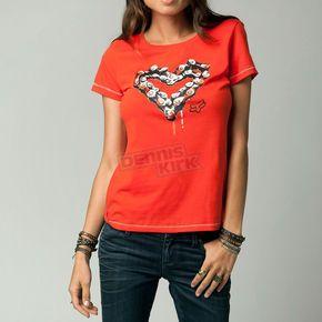 Fox Women's Orange Flame Breaker Crew T-Shirt