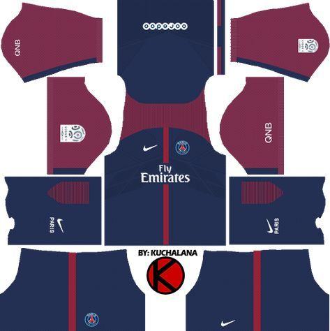 Dream League Soccer Psg Kits With Logo And Url Kits De Futebol Futebol Esportes