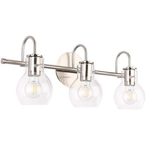 Solfart Bathroom Lighting Vanity Lights Brushed Nickel Stainless Steel In 2021 Bathroom Light Fixtures Brushed Nickel Bathroom Light Fixtures Bathroom Vanity Brushed nickel vanity light