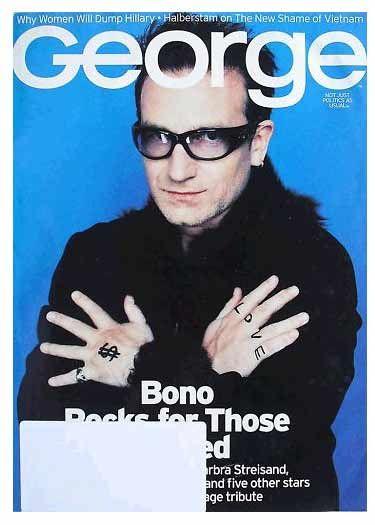 George Magazine – Bono in 2000 #u2newsactualite #bono #u2 #music #rock #georgemagazine  #u2newsactualitepinterest
