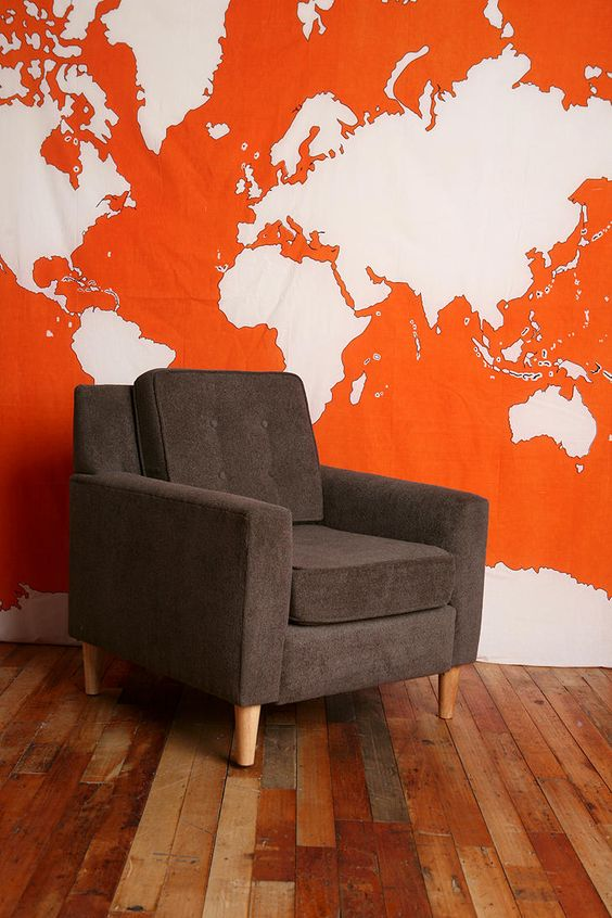 Hang a world atlas tapestry to dress up the party room (or use hang it as an awning for an outdoors party)