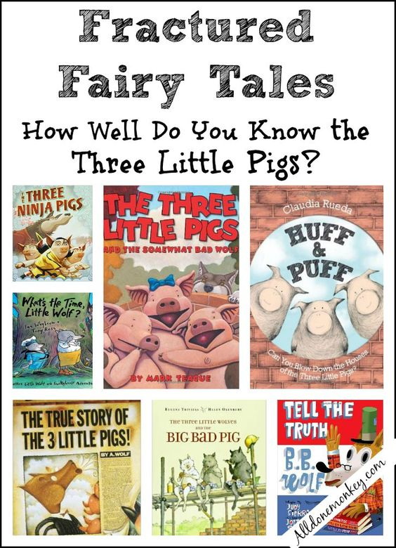The Three Little Pigs: Fractured Fairy Tales | Alldonemonkey.com