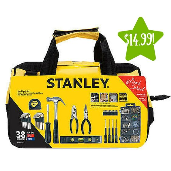 Stanley 38-PC Homeowners Tools Set in Bag Only $14.99 (Reg. $24.99) - http://www.couponsforyourfamily.com/stanley-38-pc-homeowners-tools-set-in-bag-only-14-99-reg-24-99/