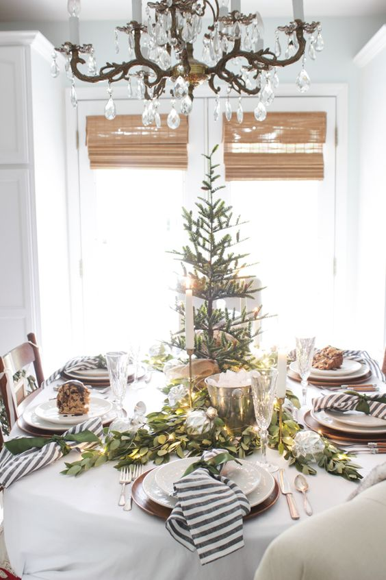 A Fresh Green Christmas Table - Shades of Blue Interiors: