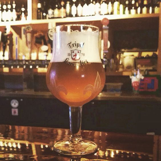 /// Tripel Karmeliet is brewed in accordance with an authentic 1679 recipe using wheat, oats, and barley, and originating from the old Carmelite convent in the Belgian city of Dendermonde. Sweet and tart, dry and creamy. Top notch. Cheers.
