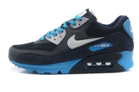 nike air max thea vert - Authentique Nike Air Max 90 Essential Anthracite Marine Bleu Homme ...