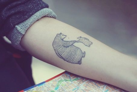 bear tattoo | Tumblr