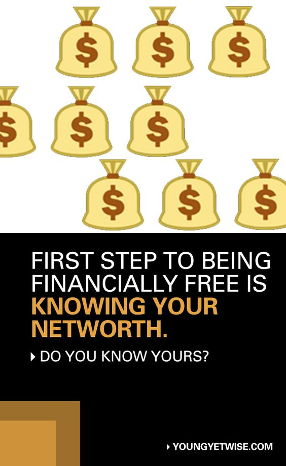 Do you know your net worth? Let's talk about it assets, liabilities and more! http://youngyetwise.com/first-step-to-being-financially-free-is-knowing-your-networth/