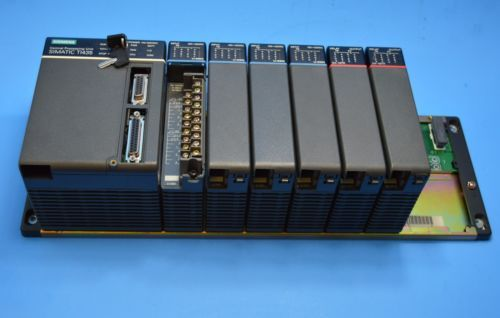 SIEMENS SIMATIC CPU TI435 WITH U 08B RACK 8 SLOT WITH FOUR U 25N