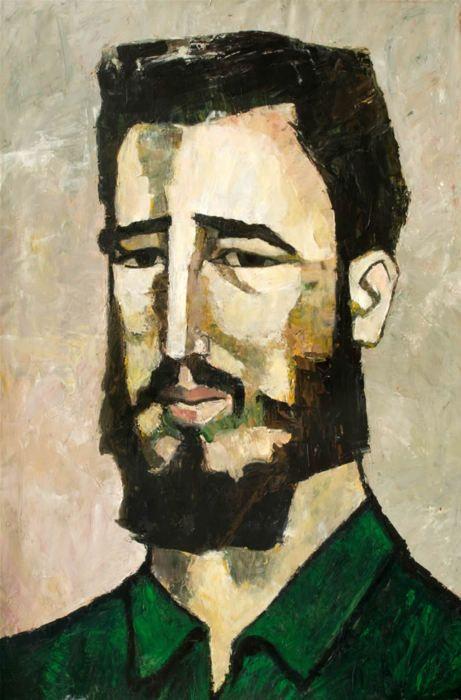 Portrait of Fidel Castro, 1961 Oswaldo Guayasamin - by style - Expressionism