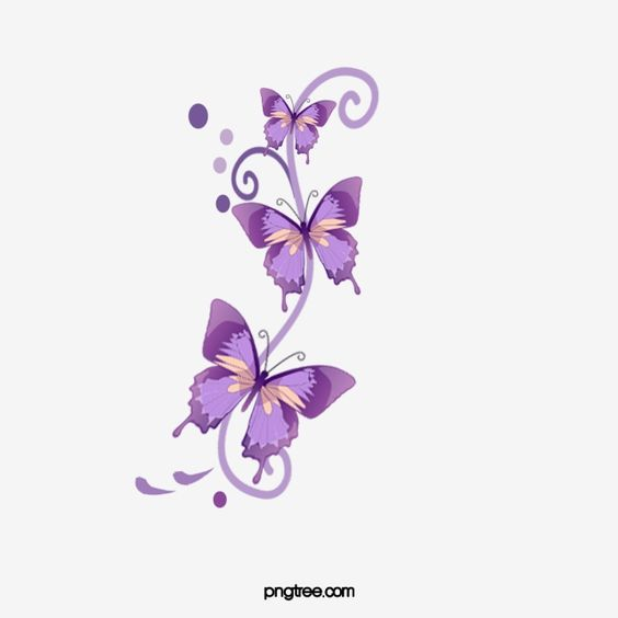 Purple Butterfly Butterfly Clipart Butterfly Purple Png