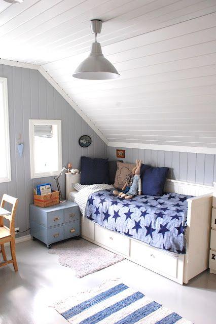 Silje sin nyoppusset gutterom deco for kids chambre beb decoraci n infantil pinterest - Bebe deco slaapkamer ...
