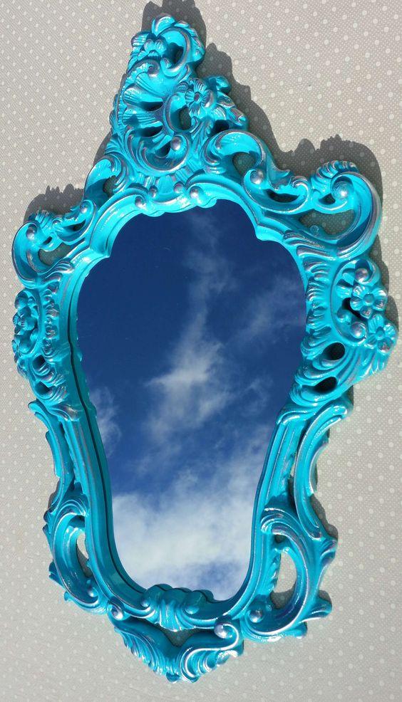 Espelho Veneziano Turquesa Provence