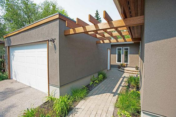 Garage stucco replacement Calgary. Tony William Roofing & Exteriors Inc. (403) 454-1366 