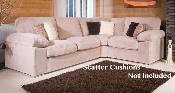 Oakley Fabric Corner Sofa Cream