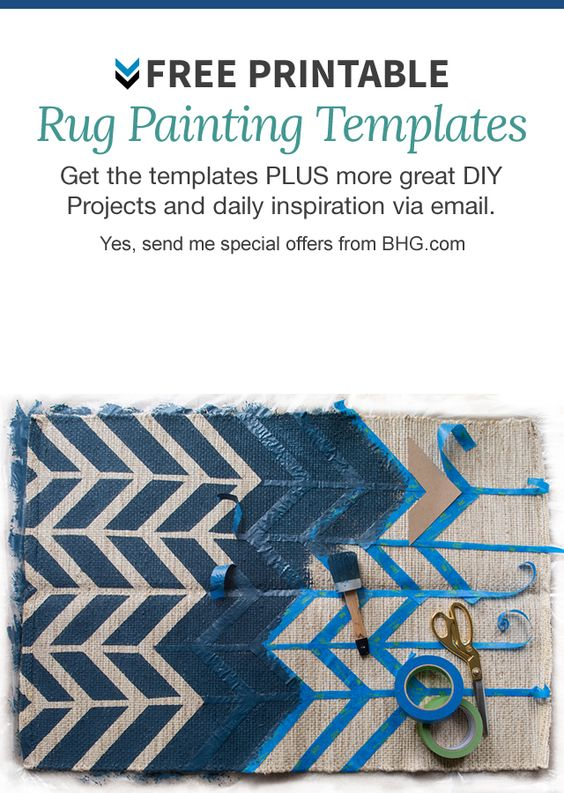 Easy Painted Rugs - B H and G