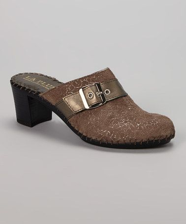 Look what I found on #zulily! Brown Billie Leather Mule by La Plume #zulilyfinds