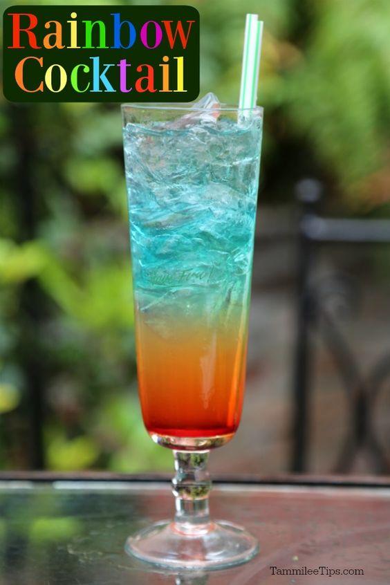 Easy Rainbow Cocktail Drink Recipe