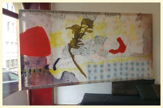 Le Rêve, 2016 230x100 cm Mixed Media on CO Gaze © Birgit Herzberg-Jochum