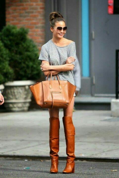 Thigh high tan boots | Elegant Street | Pinterest | Tans, Thigh ...