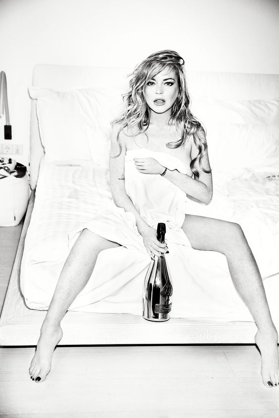 lindsay lohan by ellen von unwerth for notofu winter 2015 | visual optimism; fashion editorials, shows, campaigns & more!