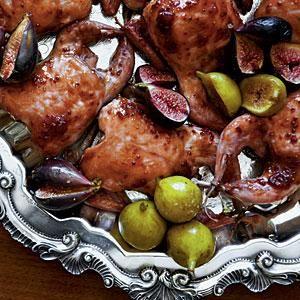 Fig-and-Balsamic-Glazed Quail Recipe   MyRecipes.com
