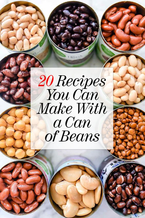 20 RECIPES YOU CAN MAKE WITH A CAN OF BEANS | foodiecrush.com