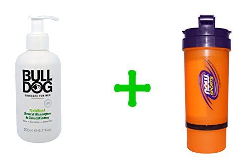 Introducing Bulldog Skincare For Men Original Beard Shampoo  Conditioner 67 fl oz 200 ml2 PACKNow Foods 3 in 1 Sports Shaker Bottle 25 oz. Great product and follow us for more updates!