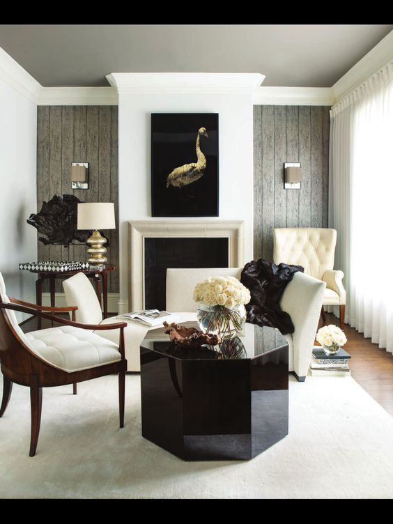 Interiors Living Rooms And Black White On Pinterest